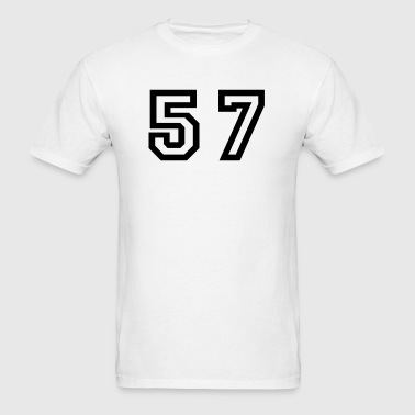 Number - 57 - Fifty Seven - Men's T-Shirt