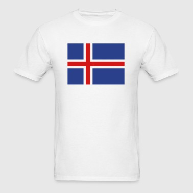 Iceland- Icelandic flag with correct dimensions - Men's T-Shirt