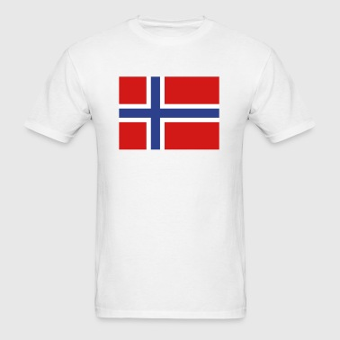 Norway- Norwegian flag with correct dimensions - Men's T-Shirt
