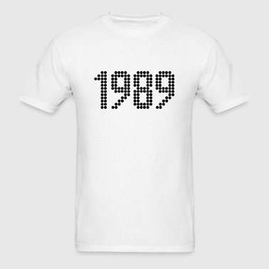 1989, Numbers, Year, Year Of Birth - Men's T-Shirt