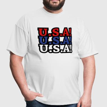 U.S.A! U.S.A! U.S.A! (chant) - Men's T-Shirt