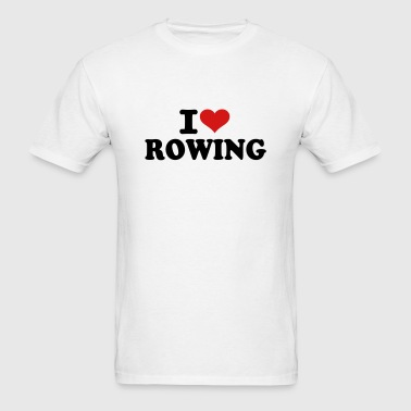 I love Rowing - Men's T-Shirt