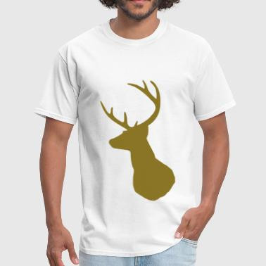 Mounted Deer Deer Profile - Men's T-Shirt