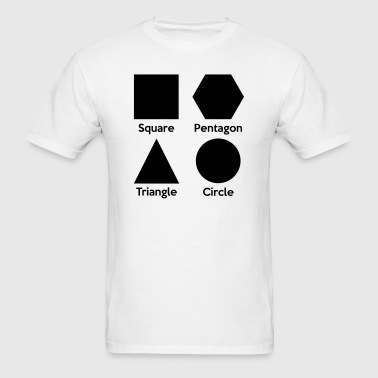 Basic Shapes Silhouettes - Men's T-Shirt