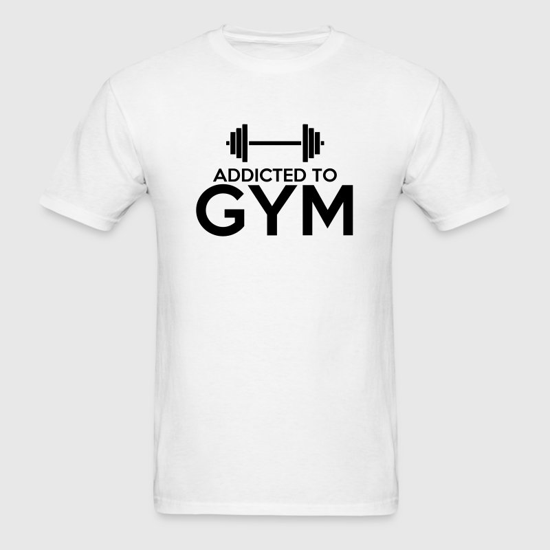 Addicted to GYM (Gym addict) - Men's T-Shirt