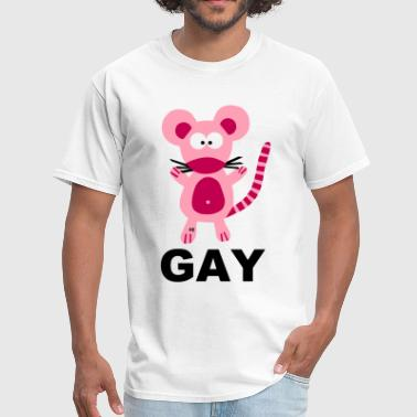 Gay Mouse Statement Rainbow Costume Pride Rat - Men's T-Shirt