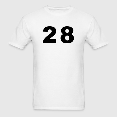 Number - 28 - Twenty-Eight - Men's T-Shirt