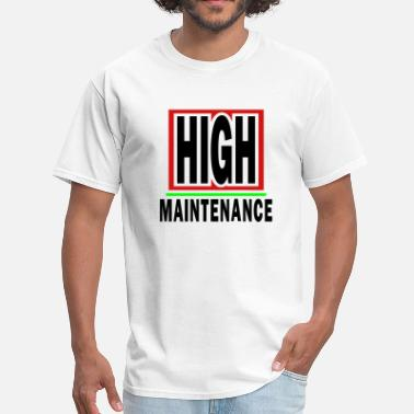Sex Corner High Maintenance With Background And Outline - Men's T-Shirt