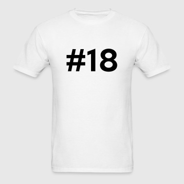 #18 (number eighteen) - Men's T-Shirt