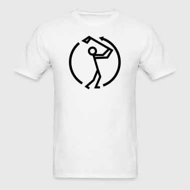 Golf Swing Stickman - Men's T-Shirt