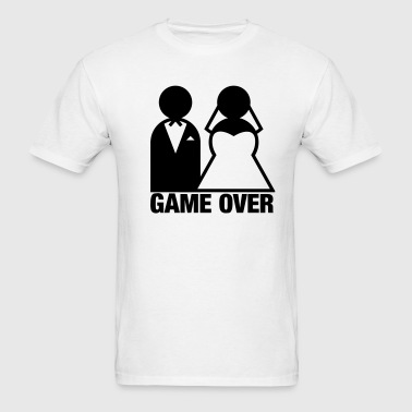 Game Over - Wedding Bride and Groom - Men's T-Shirt