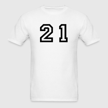 Number - 21 - Twenty One - Men's T-Shirt