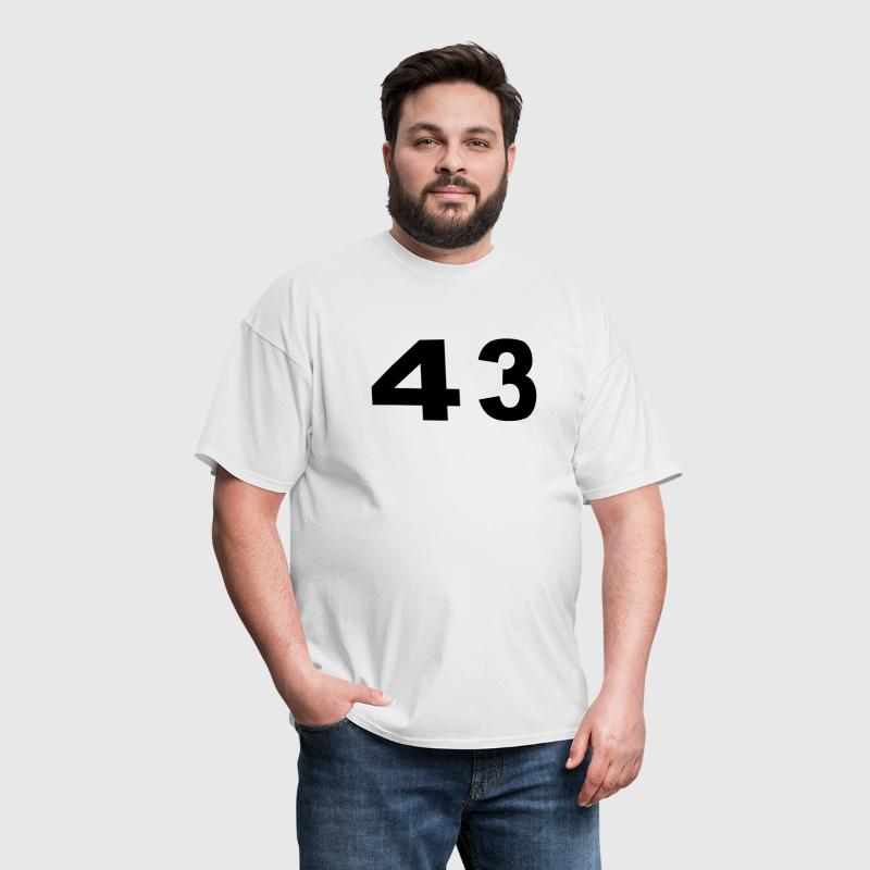 Number - 43 - Forty Three - Men's T-Shirt