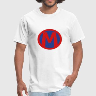 Super, Hero, Heroine, Initials, M - Men's T-Shirt
