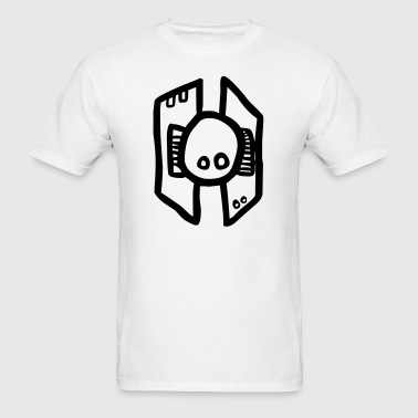 Cartoon Robot Flying Head - Men's T-Shirt