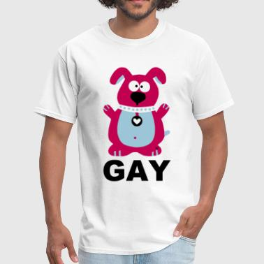 Gay Dog Statement Rainbow Costume Pride Dogs - Men's T-Shirt