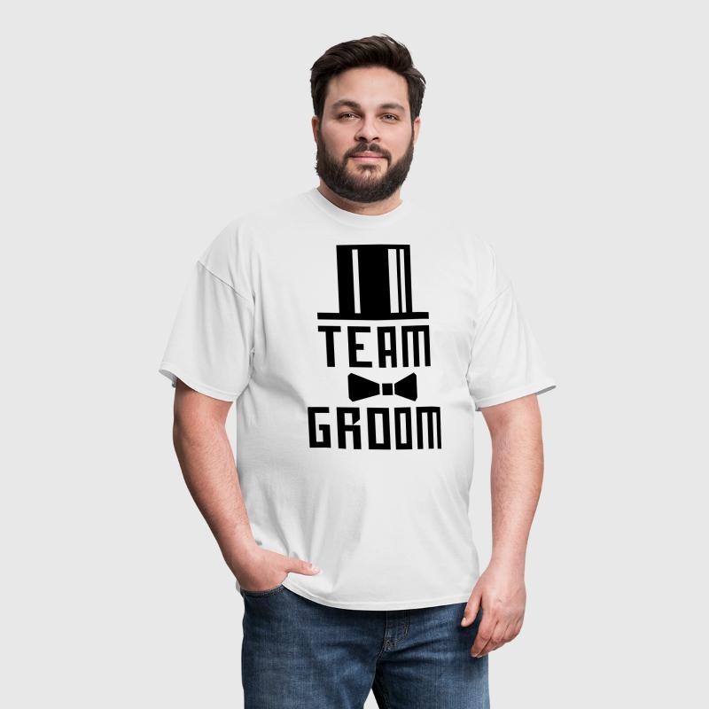 14 Team Groom Bachelor Party JGA Cylinder Hut BFF - Men's T-Shirt