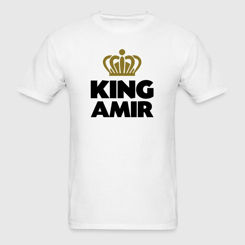 King amir name thing crown - Men's T-Shirt
