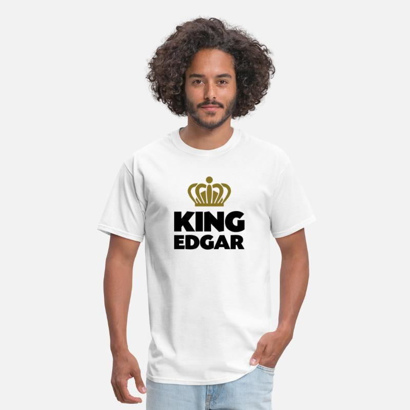 T-Shirts - King edgar name thing crown - Men's T-Shirt white