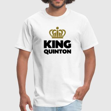 King quinton name thing crown - Men's T-Shirt