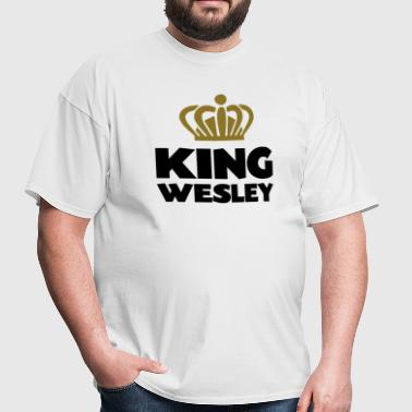 King wesley name thing crown - Men's T-Shirt