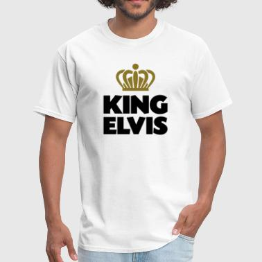 King elvis name thing crown - Men's T-Shirt