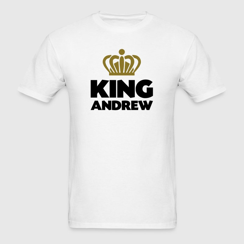 King andrew name thing crown - Men's T-Shirt