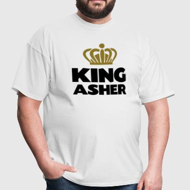 King asher name thing crown - Men's T-Shirt