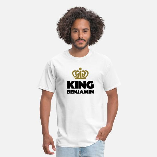 T-Shirts - King benjamin name thing crown - Men's T-Shirt white