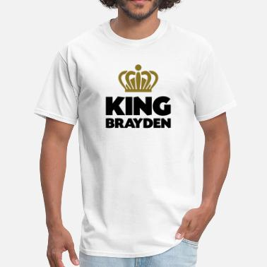 Brayden King brayden name thing crown - Men's T-Shirt