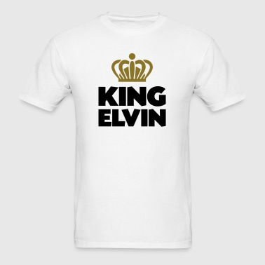King elvin name thing crown - Men's T-Shirt