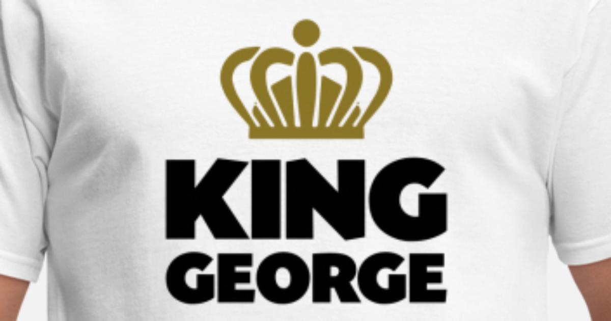 54f3dcb09 King george name thing crown Men s T-Shirt