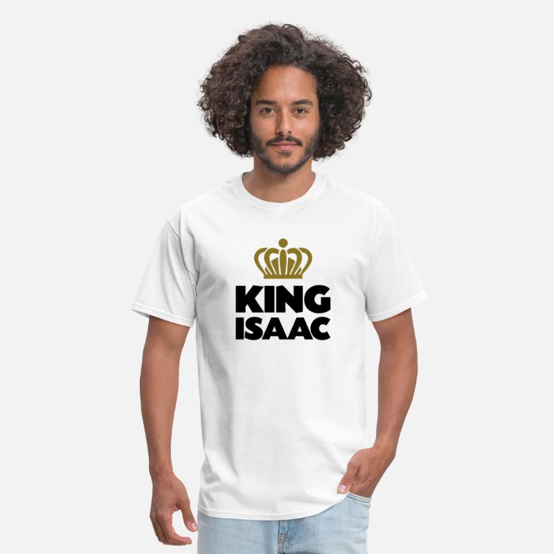 Isaac T-Shirts - King isaac name thing crown - Men's T-Shirt white