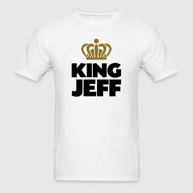 King jeff name thing crown - Men's T-Shirt