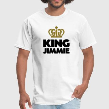 King jimmie name thing crown - Men's T-Shirt
