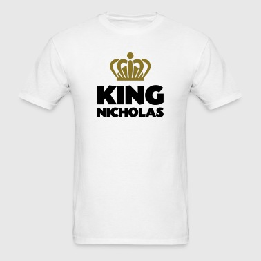 King nicholas name thing crown - Men's T-Shirt