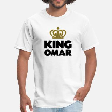King Omar Name Thing Crown King omar name thing crown - Men's T-Shirt