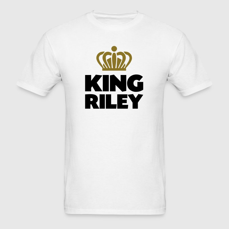 King riley name thing crown - Men's T-Shirt
