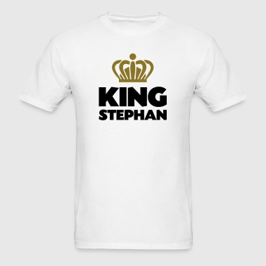 King stephan name thing crown - Men's T-Shirt