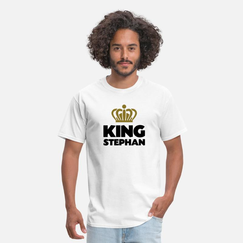 T-Shirts - King stephan name thing crown - Men's T-Shirt white