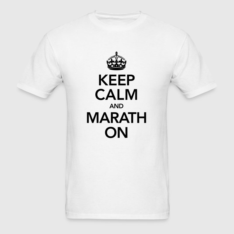 Keep Calm And Marathon - Men's T-Shirt