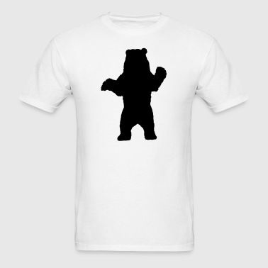 Standing Bear, Grizzly Bear Silhouette - Men's T-Shirt