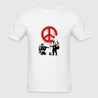 Banksy ba10 cnd peace sign soldiers - Men's T-Shirt