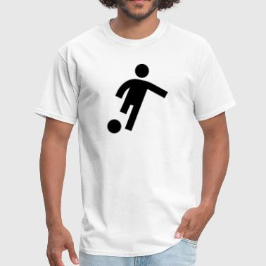 Football Soccer Kick Icon - Men's T-Shirt