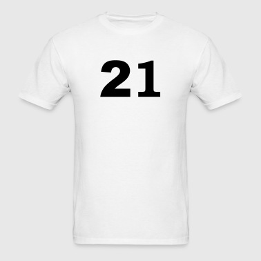 Number - 21 - Twenty-One - Men's T-Shirt