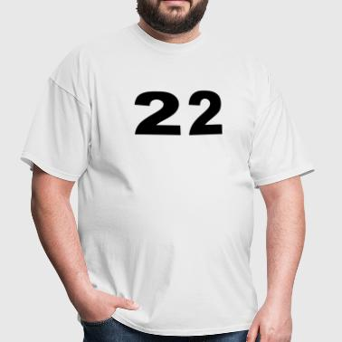 Number - 22 - Twenty-Two - Men's T-Shirt