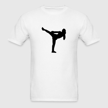 Thai Kick Boxing Silhouette - Men's T-Shirt