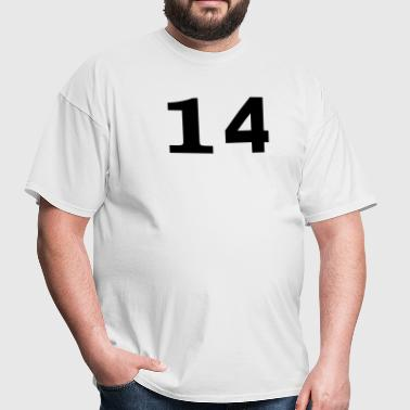 number - 14 - fourteen - Men's T-Shirt