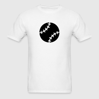 Baseball Ball Silhouette - Men's T-Shirt