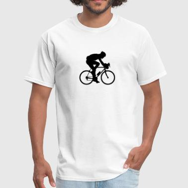 road race cyclist silhouette - Men's T-Shirt